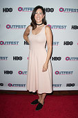 Actress D'Arcy Carden arrives at the 2016 Outfest Los Angeles closing night gala of 'Other People' at The Theatre at Ace Hotel on July 17 2016 in Los...