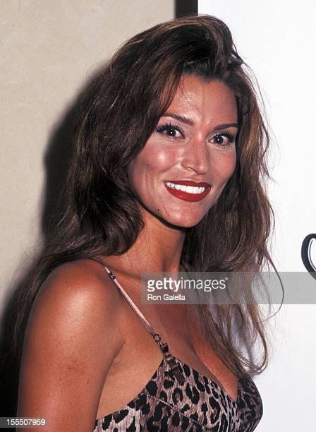 Actress Darcy LaPier attends the 1997 Paul Mitchell Puerto Rico Celebrity Sports Invitational Chefs of Puerto Rico AllStar Dinner on May 23 1997 at...