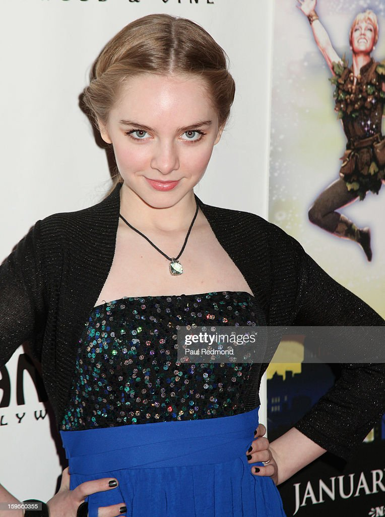Actress Darcy Rose Byrnes arrives at 'Peter Pan' Los Angeles play opening night at the Pantages Theatre on January 15, 2013 in Hollywood, California.
