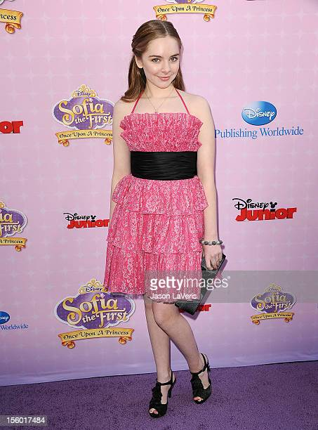 Actress Darcy Rose Byrnes attends the premiere of 'Sofia The First Once Upon a Princess' at Walt Disney Studios on November 10 2012 in Burbank...