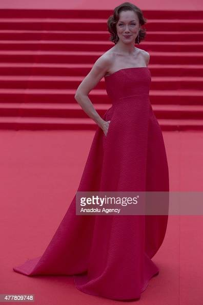 Actress Darya Moroz attends the opening ceremony of the 37th Moscow International Film Festival in Moscow Russia on June 2015