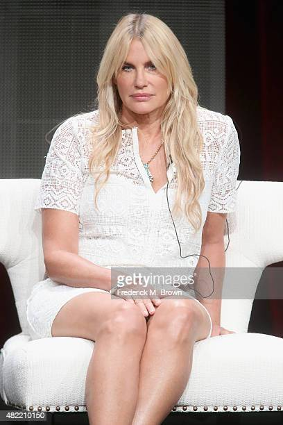 Actress Daryl Hannah speaks onstage during the 'Sense8' panel discussion at the Netflix portion of the 2015 Summer TCA Tour at The Beverly Hilton...