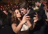Actress Dascha Polanco and actor RJ Mitte attend Variety and Women in Film Emmy Nominee Celebration powered by Samsung Galaxy on August 23 2014 in...