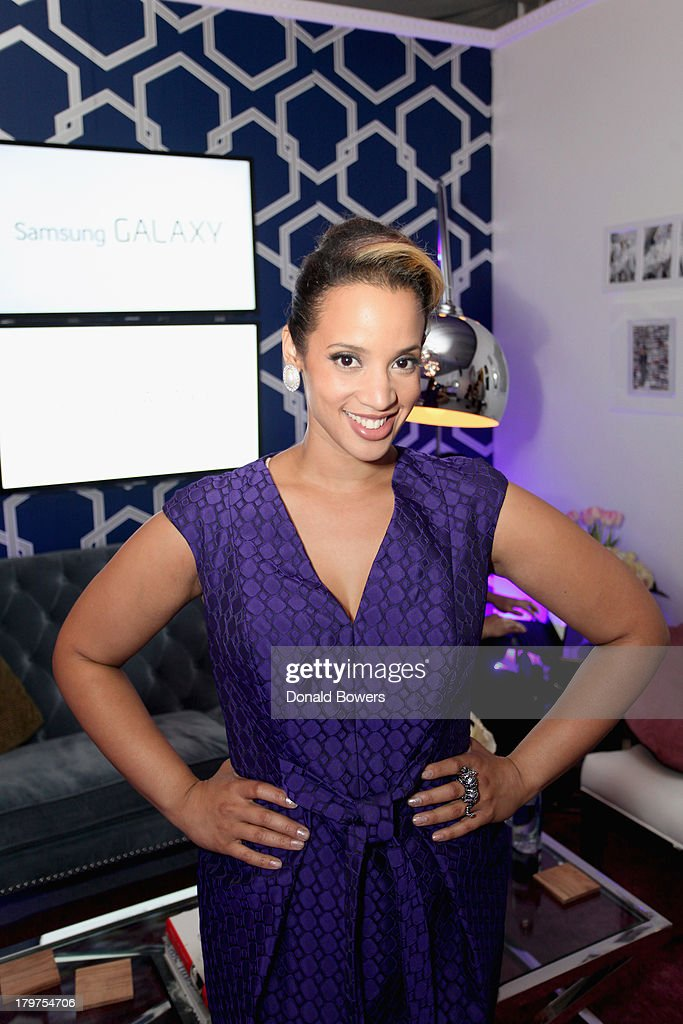Actress Dascha Polanco at The Samsung Galaxy Blue Room at Mercedes-Benz Fashion Week Spring 2014 Collections at Lincoln Center on September 6, 2013 in New York City.