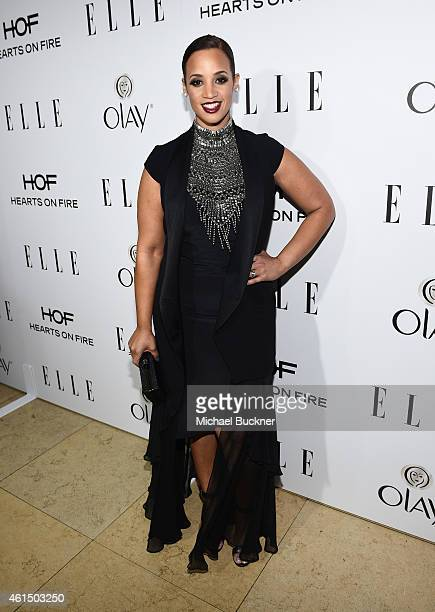 Actress Dascha Polanco attends ELLE's Annual Women in Television Celebration on January 13 2015 at Sunset Tower in West Hollywood California...