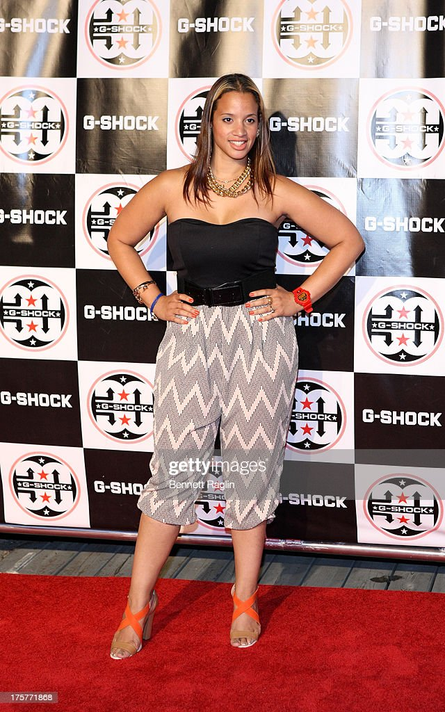Actress <a gi-track='captionPersonalityLinkClicked' href=/galleries/search?phrase=Dascha+Polanco&family=editorial&specificpeople=11068335 ng-click='$event.stopPropagation()'>Dascha Polanco</a> attends G-Shock - Shock The World 2013 at Basketball City - Pier 36 - South Street on August 7, 2013 in New York City.