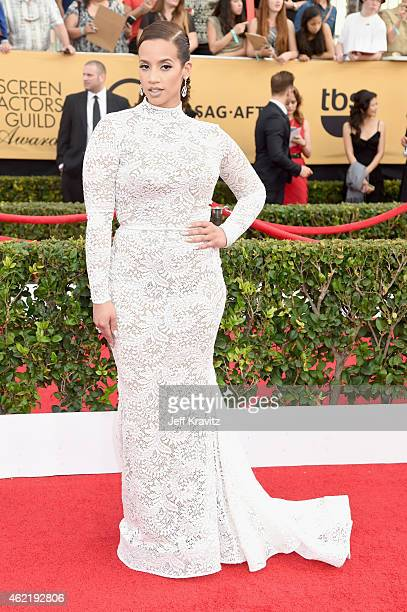 Actress Dascha Polanco attends the 21st Annual Screen Actors Guild Awards at The Shrine Auditorium on January 25 2015 in Los Angeles California