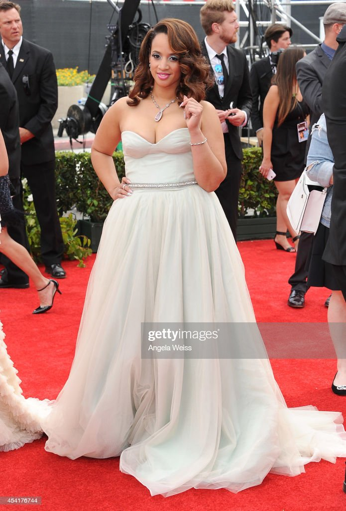 Actress <a gi-track='captionPersonalityLinkClicked' href=/galleries/search?phrase=Dascha+Polanco&family=editorial&specificpeople=11068335 ng-click='$event.stopPropagation()'>Dascha Polanco</a> attends the 66th Annual Primetime Emmy Awards held at the Nokia Theatre L.A. Live on August 25, 2014 in Los Angeles, California.