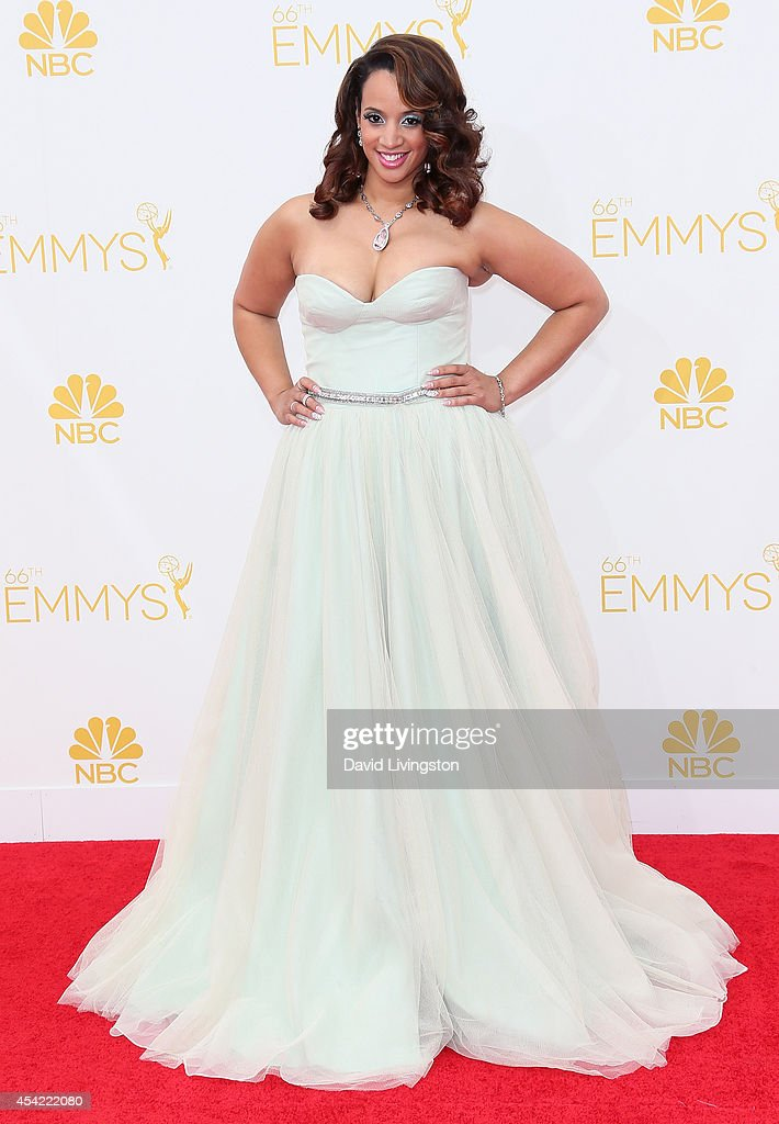 Actress <a gi-track='captionPersonalityLinkClicked' href=/galleries/search?phrase=Dascha+Polanco&family=editorial&specificpeople=11068335 ng-click='$event.stopPropagation()'>Dascha Polanco</a> attends the 66th Annual Primetime Emmy Awards at the Nokia Theatre L.A. Live on August 25, 2014 in Los Angeles, California.