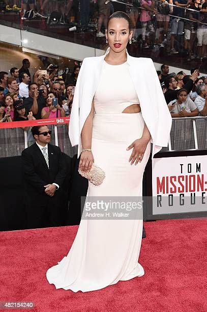 Actress Dascha Polanco attends the New York premiere of 'Mission Impossible Rogue Nation' at Duffy Square in Times Square on July 27 2015 in New York...