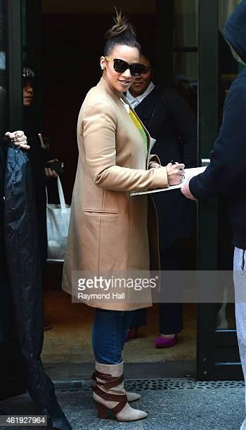 Actress Dascha Polanco is seen in Soho on January 21 2015 in New York City