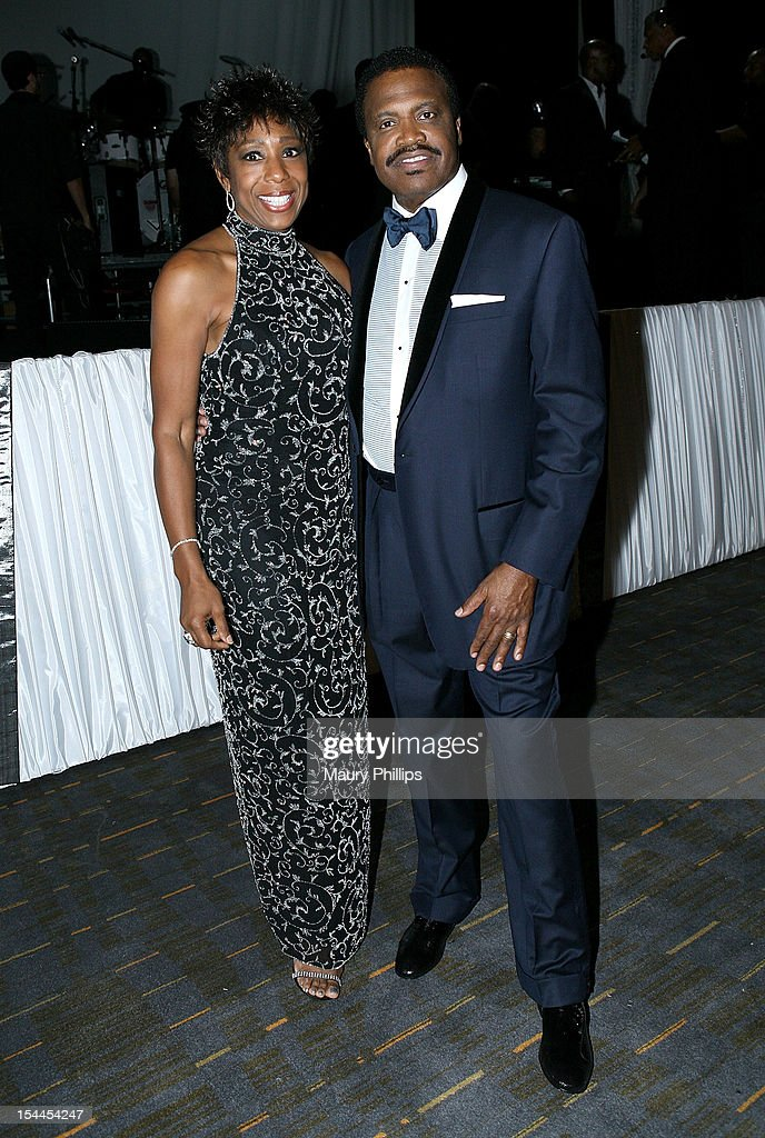 Actress Dawn Lewis and Bishop Kenneth C. Ulmer attend the Faithful Central Bible Church Event on October 19, 2012 in Century City, California.