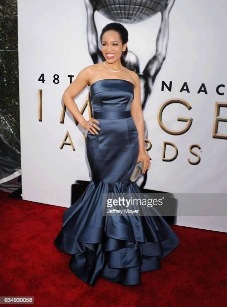 Actress Dawn LyenGardner arrives at the 48th NAACP Image Awards at Pasadena Civic Auditorium on February 11 2017 in Pasadena California
