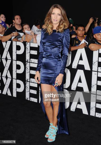 Actress Dawn Olivieri arrives at the Los Angeles Premiere 'The Expendables 2' at Grauman's Chinese Theatre on August 15 2012 in Hollywood California
