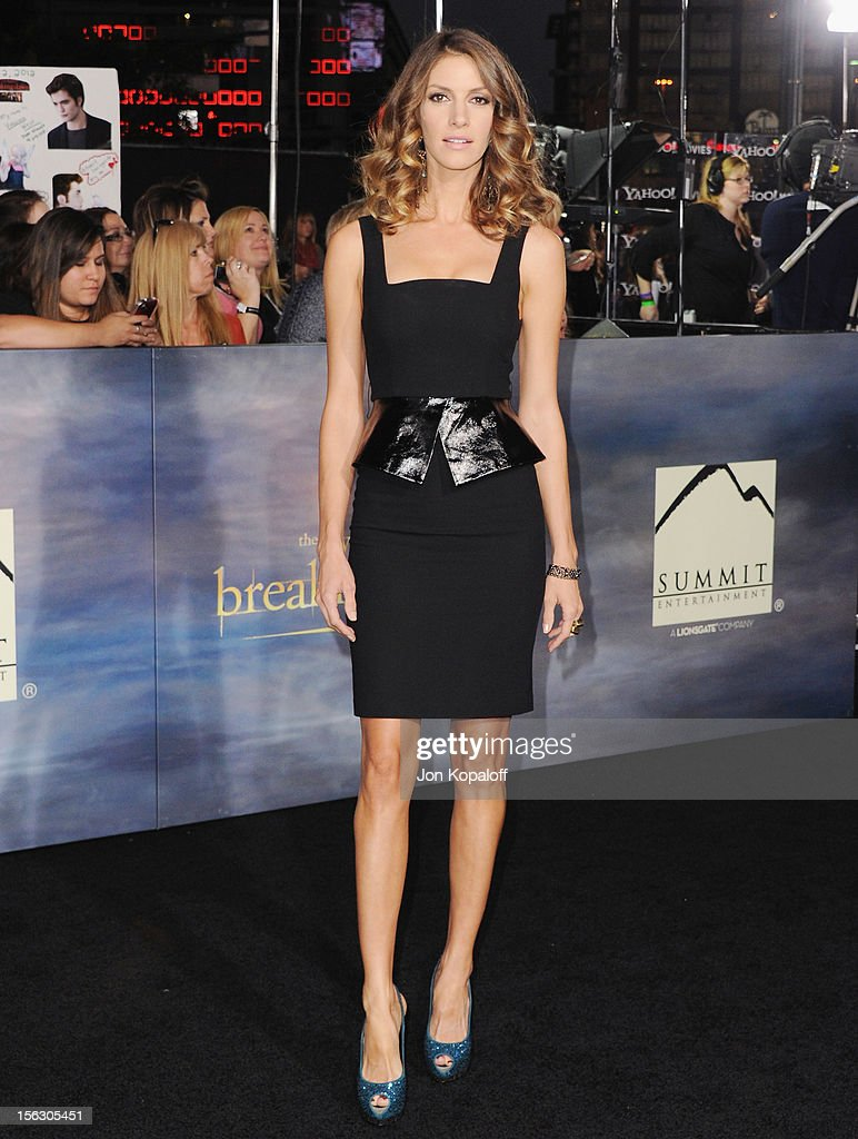 Actress Dawn Olivieri arrives at the Los Angeles Premiere 'The Twilight Saga: Breaking Dawn - Part 2' at Nokia Theatre L.A. Live on November 12, 2012 in Los Angeles, California.
