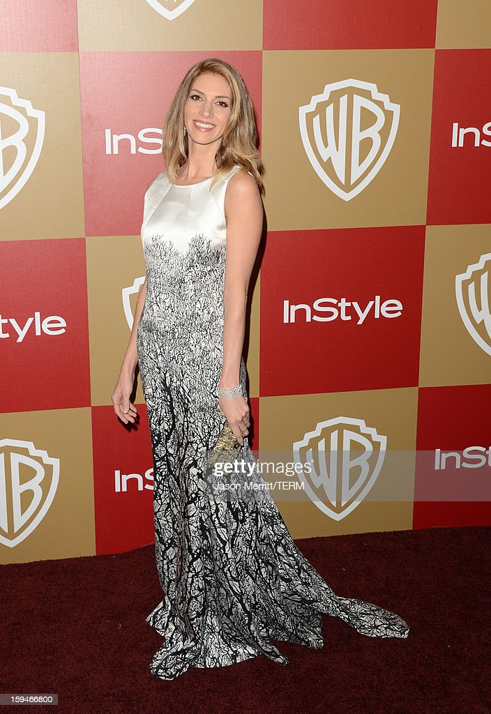 Actress Dawn Olivieri attends the 14th Annual Warner Bros. And InStyle Golden Globe Awards After Party held at the Oasis Courtyard at the Beverly Hilton Hotel on January 13, 2013 in Beverly Hills, California.