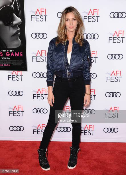Actress Dawn Olivieri attends the closing night gala screening of 'Molly's Game' at the 2017 AFI Fest at TCL Chinese Theatre on November 16 2017 in...