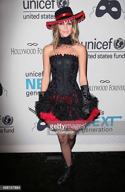 Actress Dawn Olivieri attends UNICEF's Next Generation's 2nd Annual UNICEF Masquerade Ball at Hollywood Forever Cemetery on October 30 2014 in Los...