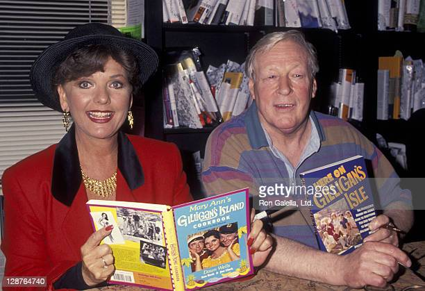 Actress Dawn Wells and Russell Johnson attend the book party for Dawn Wells 'Mary Ann's Gilligan's Island Cookbook' on December 4 1993 at the Book...