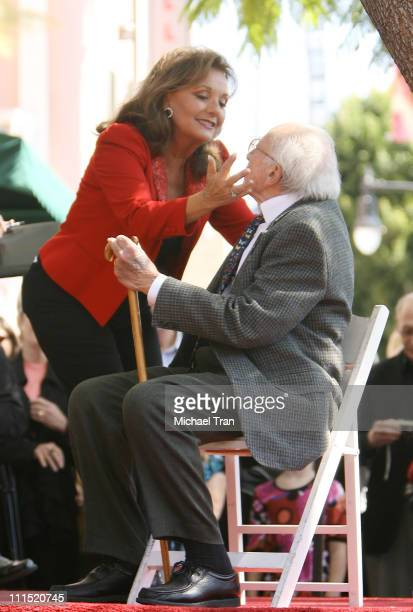 Actress Dawn Wells and writer/producer Sherwood Schwartz attends the Star on Hollywood Walk of Fame event honoring Sherwood Schwartz held at 6541...