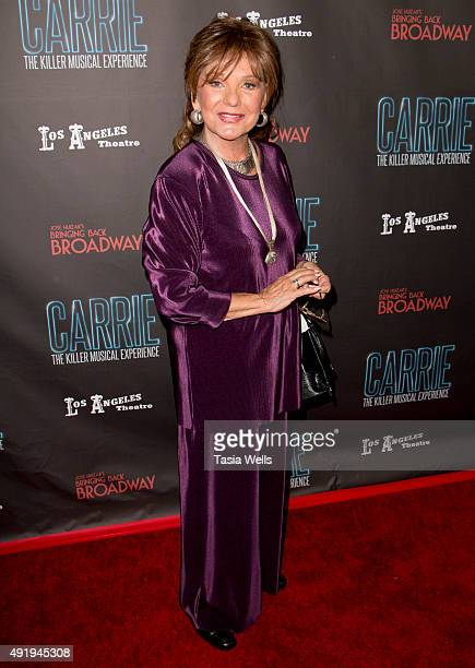 Actress Dawn Wells arrives at 'Carrie The Killer Musical Experience' Opening Night Red Carpet at Los Angeles Theatre on October 8 2015 in Los Angeles...