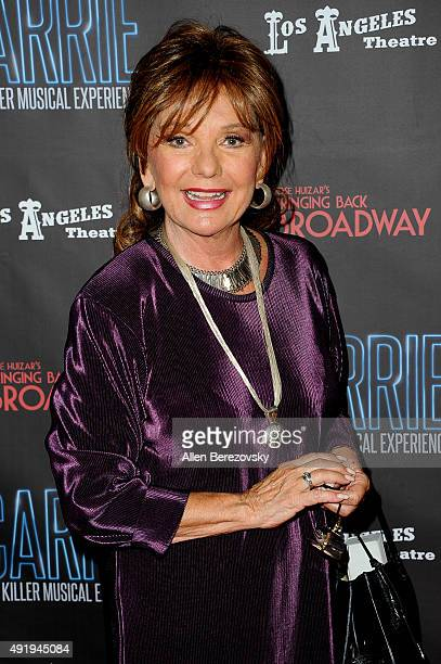 Actress Dawn Wells attends the 'Carrie The Killer Musical Experience' opening night red carpet at Los Angeles Theatre on October 8 2015 in Los...