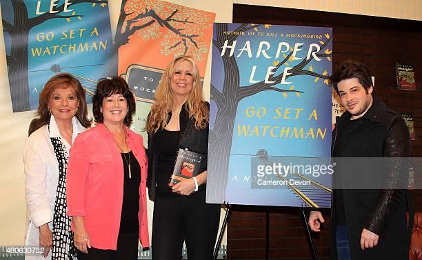 Actress Dawn Wells author Linda Schreyer Radio DJ Cynthia Fox and author Josh Sabarra attend the Celebrate Harper Lee 'To Kill a Mockingbird'...