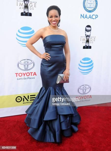 Actress DawnLyen Gardner arrives at the 48th NAACP Image Awards at Pasadena Civic Auditorium on February 11 2017 in Pasadena California