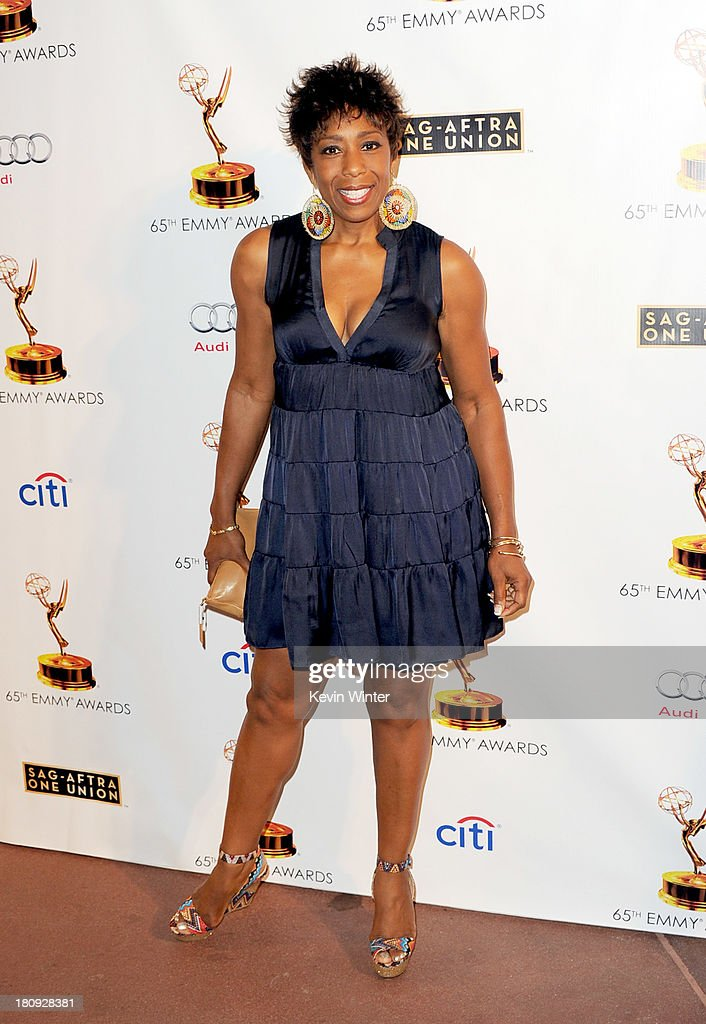 Actress Dawnn Lewis arrives at The Academy of Television Arts & Sciences and SAG-AFTRA celebration of the 65th Primetime Emmy Award nominees at the Television Academy on September 17, 2013 in No. Hollywood, California.