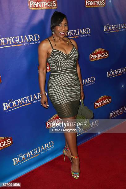 Actress Dawnn Lewis arrives at the premiere of 'The Bodyguard' at the Pantages Theatre on May 2 2017 in Hollywood California