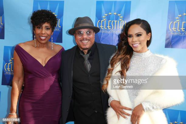 Actress Dawnn Lewis music artist Howard Hewett and actress Shanica Knowles attends the Celestial Awards Of Excellence at Alex Theatre on May 25 2017...