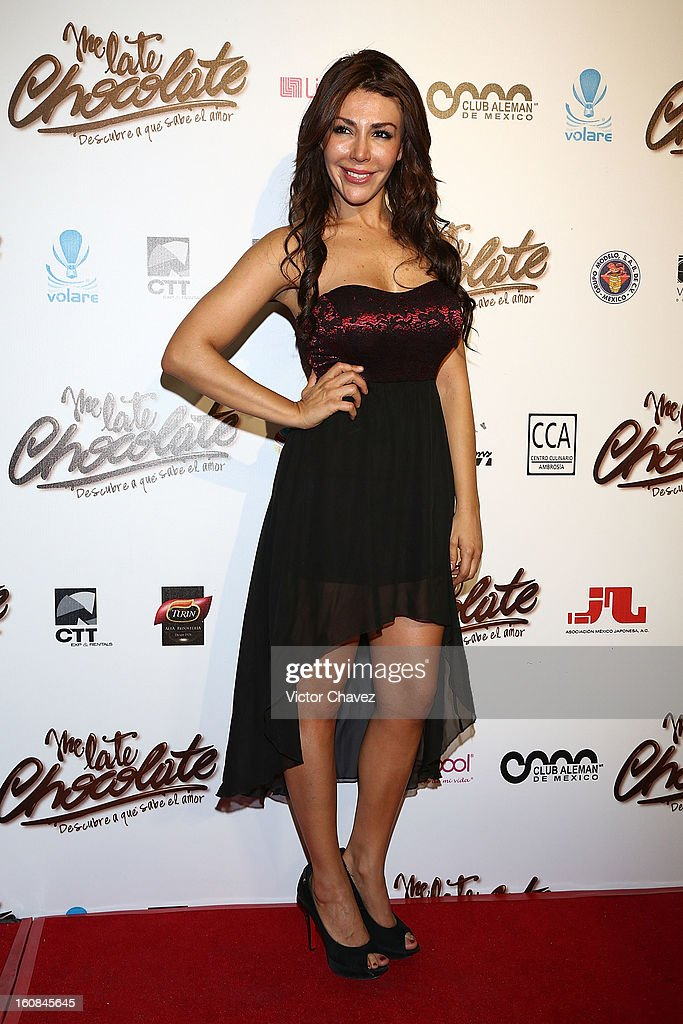 Actress Dayana Velver attends the 'Me Late Chocolate' Mexico City premiere at Cinemex WTC on February 6, 2013 in Mexico City, Mexico.