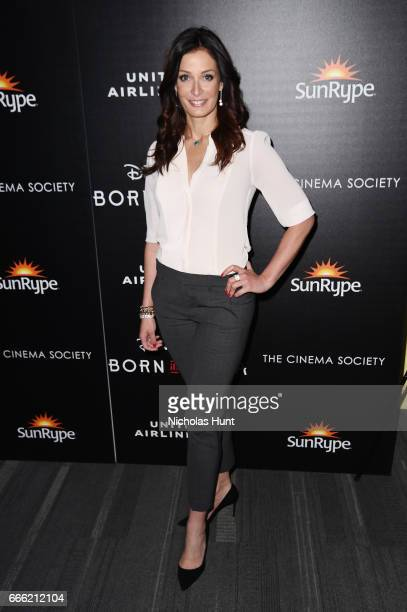 Actress Dayanara Torres attends the Disneynature With The Cinema Society Host The Premiere Of 'Born In China' at Landmark Sunshine Cinema on April 8...