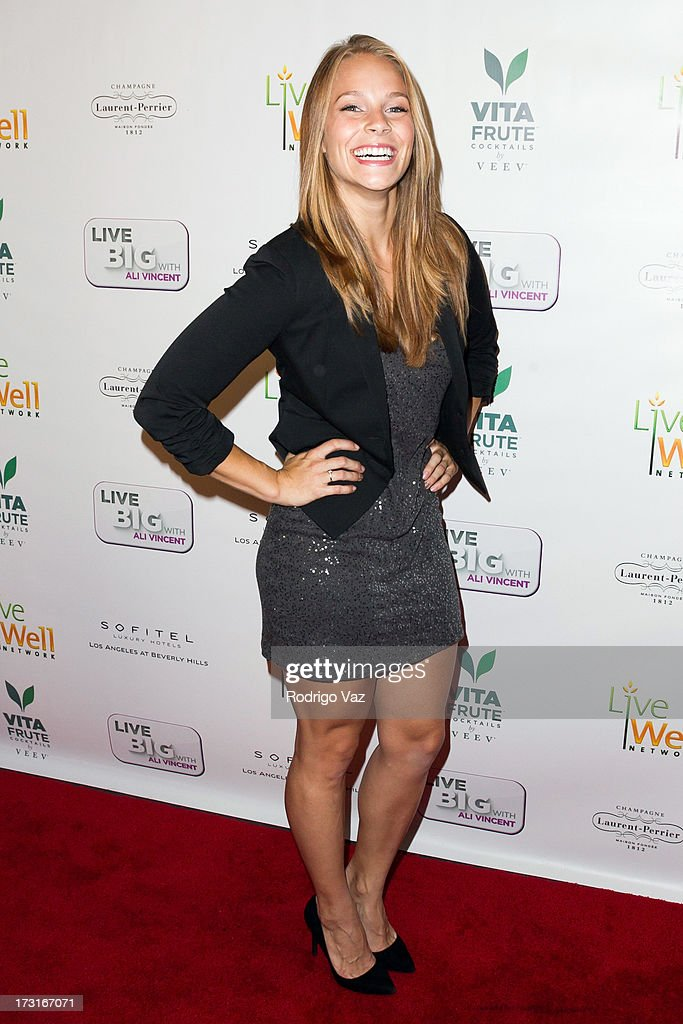 Actress Deanna Lee Douglas arrives at 'Live Big With Ali Vincent' Season 3 launch party at Sofitel Hotel on July 8, 2013 in Los Angeles, California.