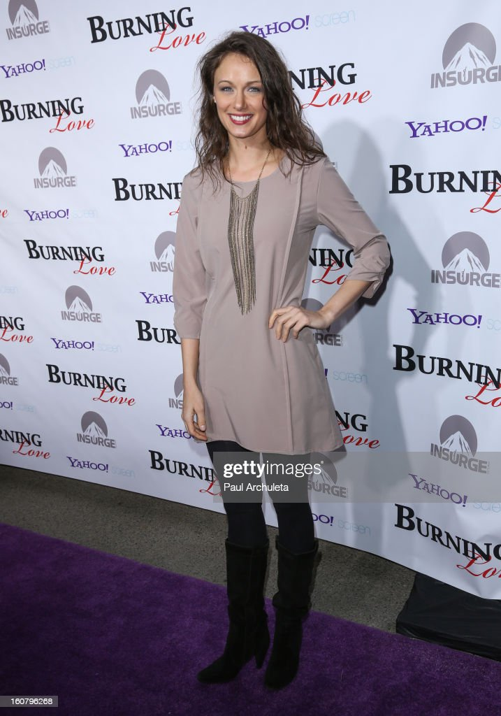 Actress Deanna Russo attends the 'Burning Love' Season 2 Los Angeles Premiere at Paramount Theater on the Paramount Studios lot on February 5, 2013 in Hollywood, California.