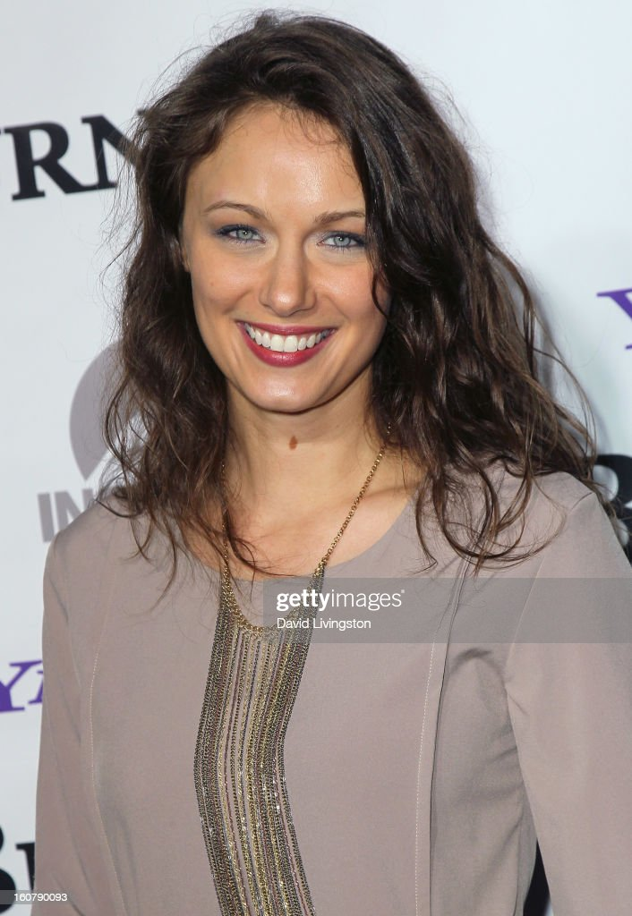 Actress Deanna Russo attends the premiere of 'Burning Love' Season 2 at the Paramount Theater on the Paramount Studios lot on February 5, 2013 in Hollywood, California.
