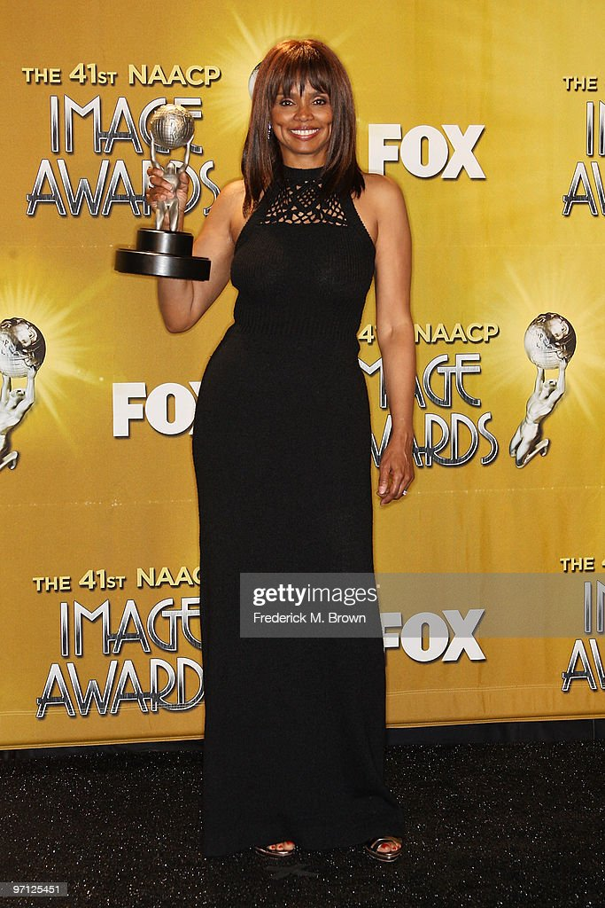 Actress <a gi-track='captionPersonalityLinkClicked' href=/galleries/search?phrase=Debbi+Morgan&family=editorial&specificpeople=1127871 ng-click='$event.stopPropagation()'>Debbi Morgan</a>, of 'All My Children' winner of Outstanding Actress in a Daytime Drama Series poses in the press room during the 41st NAACP Image awards held at The Shrine Auditorium on February 26, 2010 in Los Angeles, California.