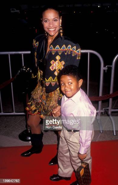 Actress Debbie Allen and actor Emmanuel Lewis attenidng the premiere of 'Boyz In Da Hood' on July 2 1991 at the Cineplex Odeon Cinema in Century City...