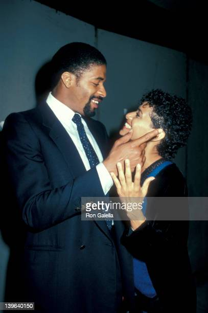 Actress Debbie Allen and husband Norman Nixon attending 'Party For Eddie Murphy' on August 24 1983 at the Hard Rock Cafe in Los Angeles California
