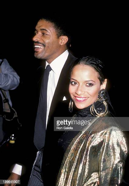 Actress Debbie Allen and husband Norman Nixon attending the premiere of 'White Nights' on November 7 1985 at the Academy Theater in Beverly Hills...