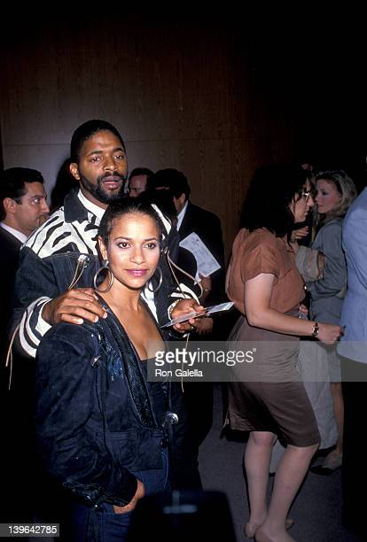 Actress Debbie Allen and husband Norman Nixon attending the premiere of 'A Dry White Season' on September 21 1989 at the Director's Guild Theater in...