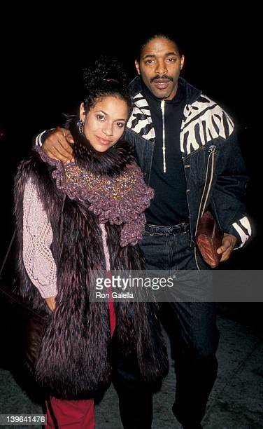 Actress Debbie Allen and husband Norman Nixon being photographed on November 11 1988 at Le Dome Restaurant in West Hollywood California