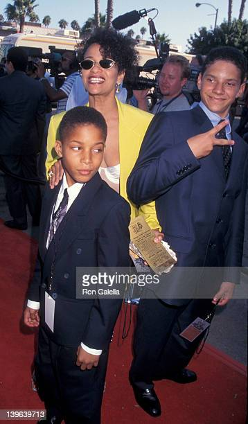 Actress Debbie Allen and son Norman Nixon Jr attending Third Annual Sould Train Lady of Soul Awards on September 5 1997 at the Santa Monica Civic...
