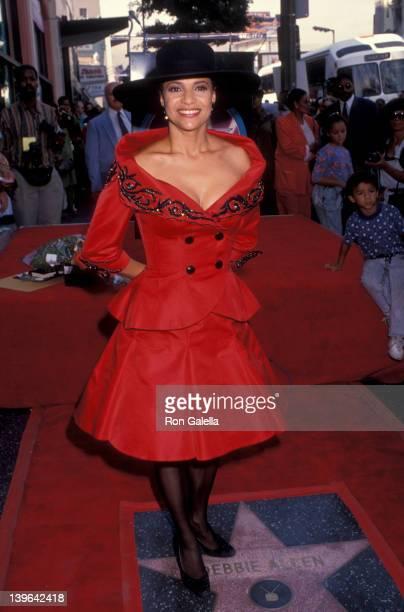 Actress Debbie Allen attending 'Debbie Allen Receives Walk Of Fame Star' on October 11 1991 at the Hollywood Walk Of Fame in Hollywood California