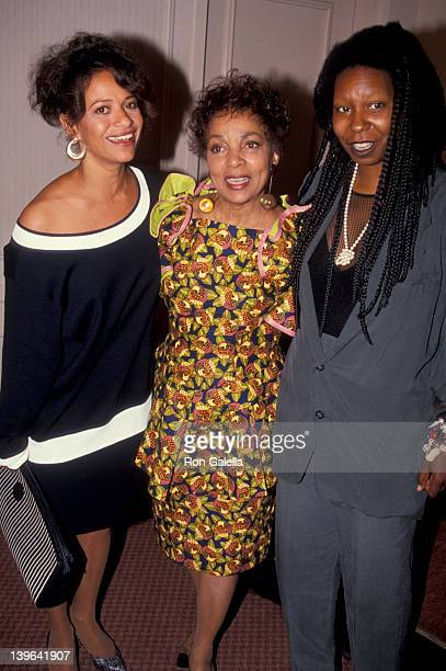Actress Debbie Allen Ruby Lee and comic Whoopi Goldberg attending 'Women In Film Awards' on June 7 1991 at the Century Plaza Hotel in Century City...