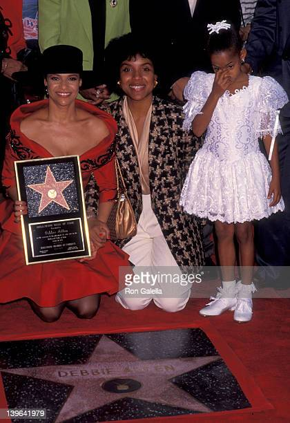 Actress Debbie Allen Vivian Nixon and Phylicia Rashad attending 'Debbie Allen Receives Walk Of Fame Star' on October 11 1991 at the Hollywood Walk Of...