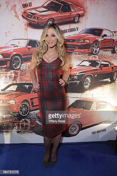 Actress Debbie Matenopoulos attends the Ford Motor Company and Christos Garkinos of Decades LA Celebration of 50 years of Mustang and Fashion at the...