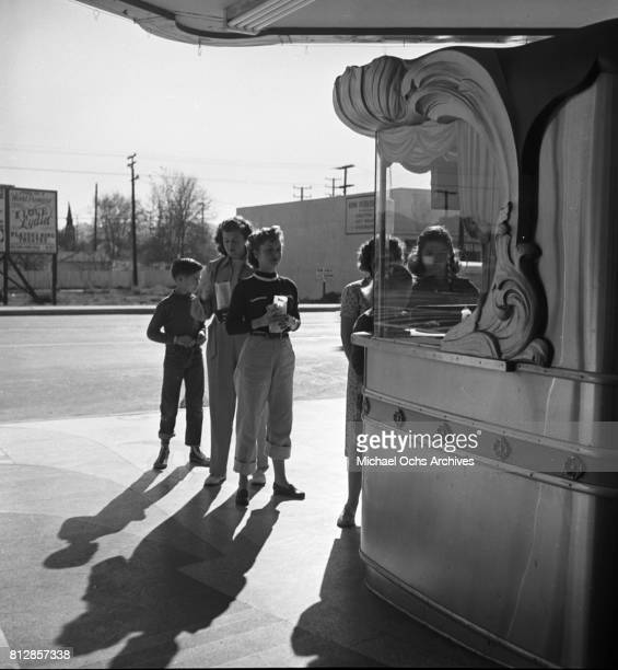 Actress Debbie Reynolds at a movie theater in circa 1948 in Burbank California