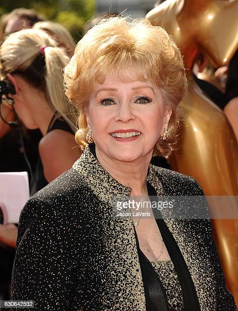 Actress Debbie Reynolds attends the 2011 Creative Arts Emmy Awards at Nokia Theatre LA Live on September 10 2011 in Los Angeles California