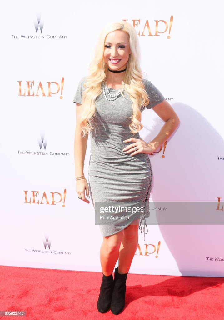 Actress Debbie Sherman attends the premiere of 'Leap!' at the Pacific Theatres at The Grove on August 19, 2017 in Los Angeles, California.